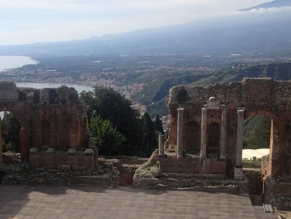 Greek Theater in Taormina Taormina  Italy