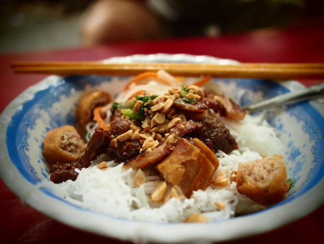 Bun thit nuong lady makes a perfect breakfast or lunch