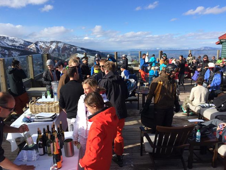 Ski-boot dancing, French cuisine, and champagne showers in Aspen Highlands