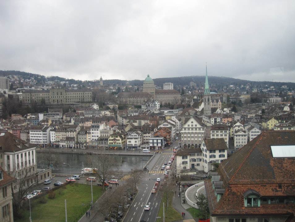 A Moody Winter Day in Zurich Zurich  Switzerland
