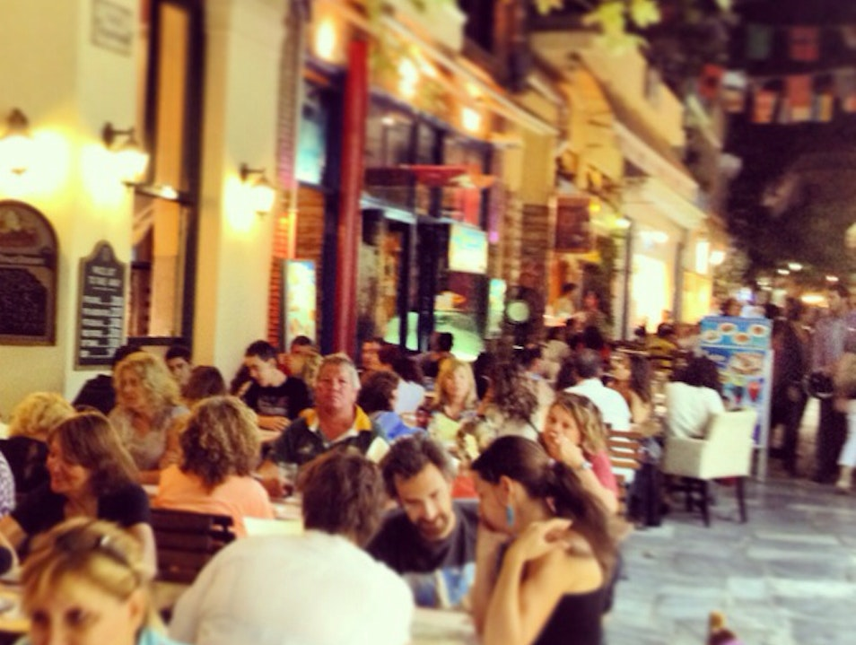 Thespidos street cafés Athens  Greece
