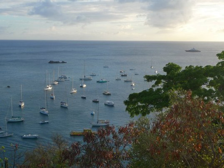 Boats Moored off Gustavia