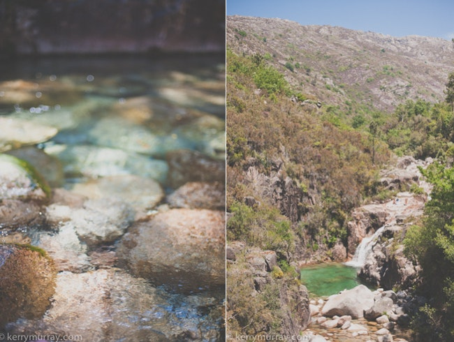 Crystal clear river pools in Gerês