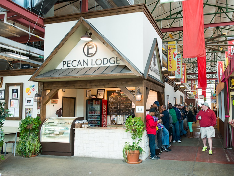 Check in at the Pecan Lodge