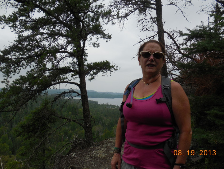 The top of a climb on the Gunflint Trail Grand Marais Minnesota United States