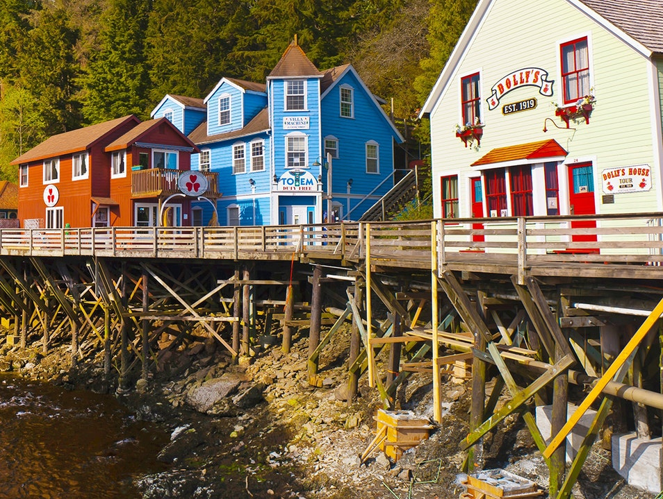 Creek Street Ketchikan Alaska United States