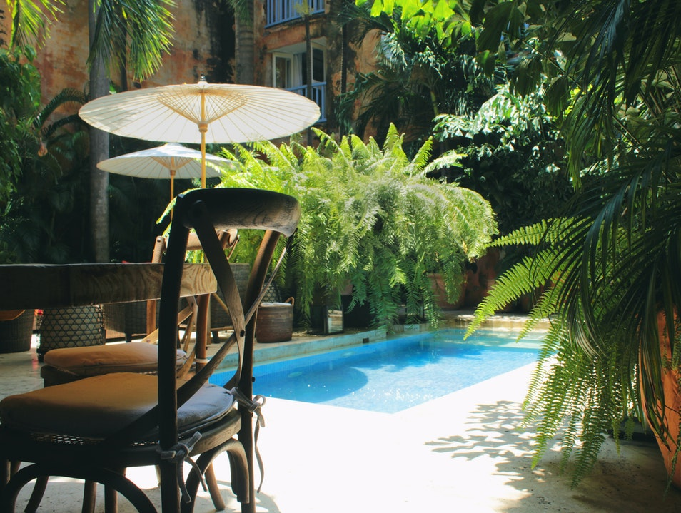 Casa de Indias Courtyard Pool Cartagena  Colombia