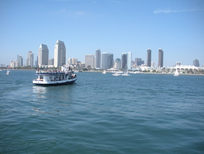 View San Diego Harbor from a Ferry