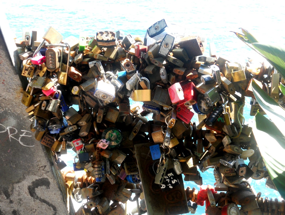 Locks of Love Riomaggiore  Italy