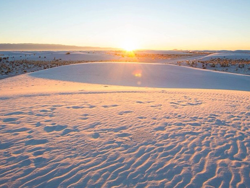 White Sands at Sunrise Alamogordo New Mexico United States