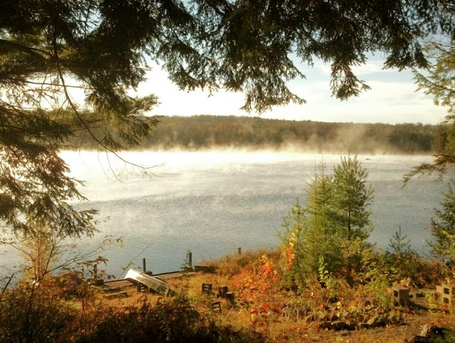 Misty, Autumn Morning Canoeing in Otter Lake