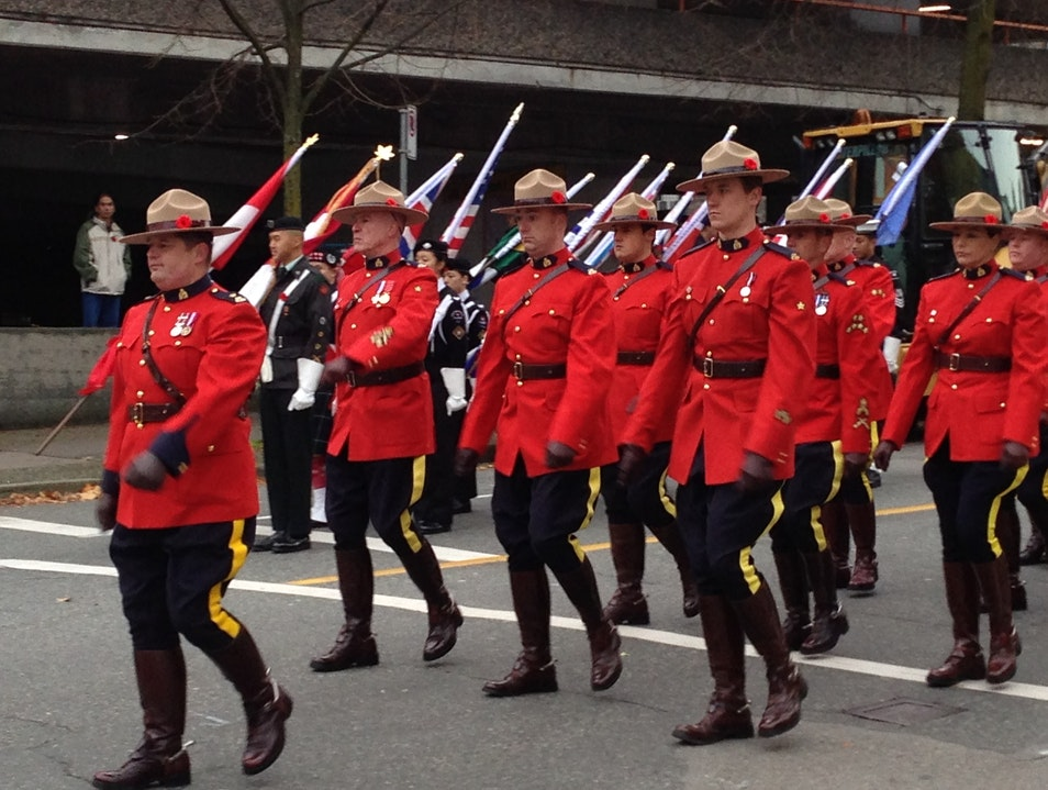 Mounties on Parade Vancouver  Canada