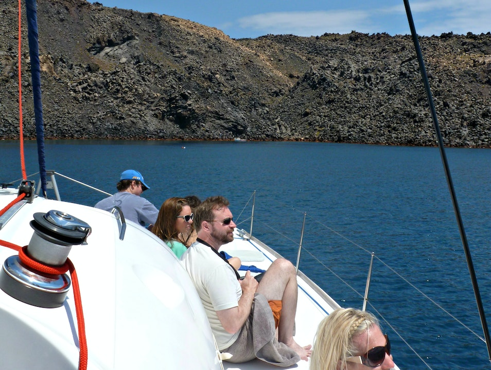 The absolute best way to see Santorini