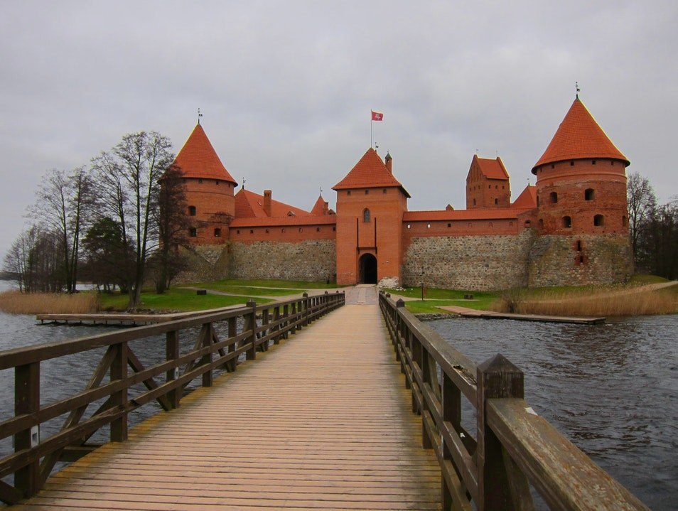 A day of cold wind at Trakai Castle