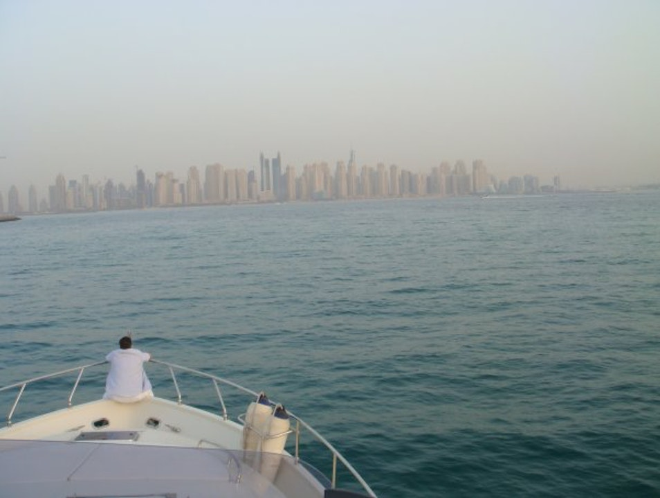 Dubai Skyline...from my Yacht Dubai  United Arab Emirates
