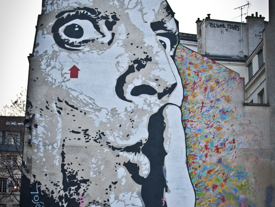 CHUUUTTT by Jef Aerosol  Paris  France