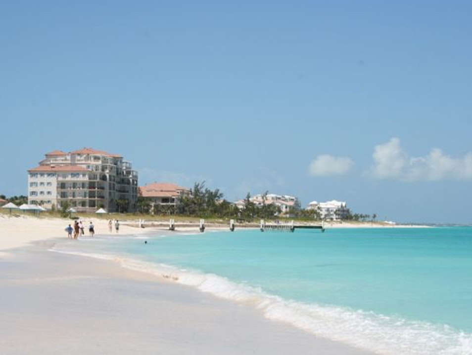 Exceed Your Recommended Daily Allowance of Powdery White Sand and Aqua-Blue Sea Grace Bay  Turks and Caicos Islands