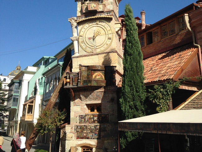 Lose track of time at the puppet theater clock tower