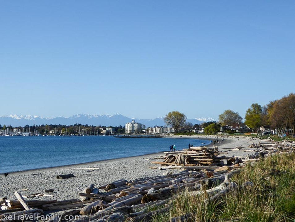 Exploring the beaches in Oak Bay Victoria  Canada