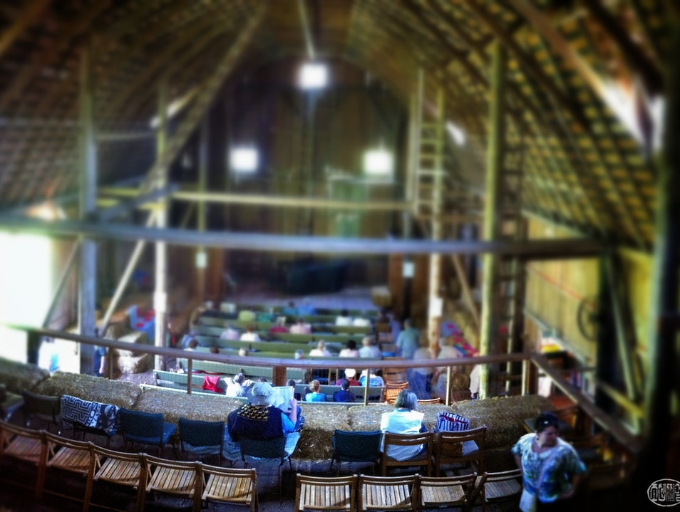 Chamber Music in a barn; summer in the Pacific NW Quilcene Washington United States