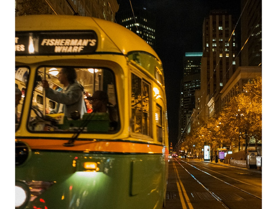I love trams :::  San Francisco California United States
