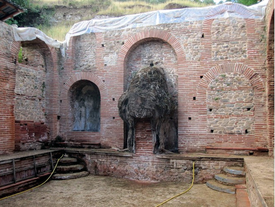 Roman bath in the village of Bansko