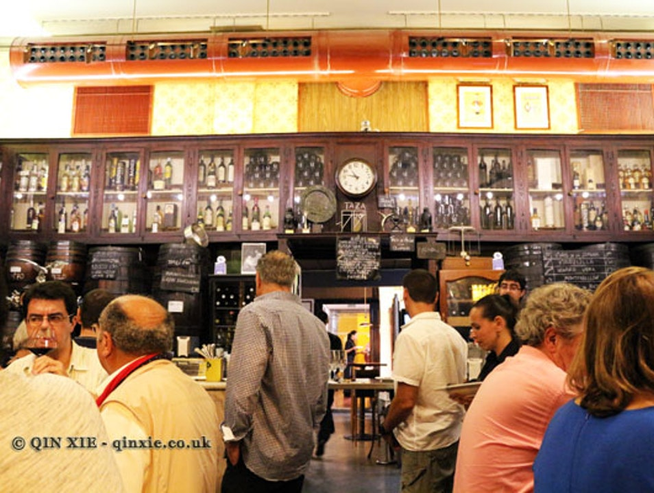 Authentic dining in century old enoteca Valencia  Spain