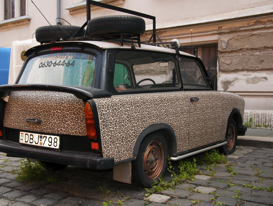 Unlikely Art:  Communist Spots Car Budapest  Hungary