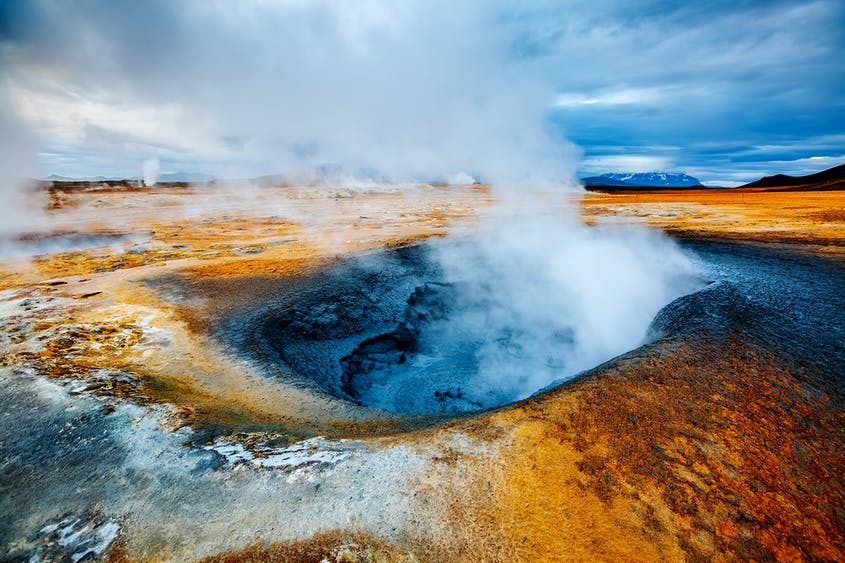 Mývatn is a hotbed for geothermal activity, offering plenty of hot springs to take a dip in.