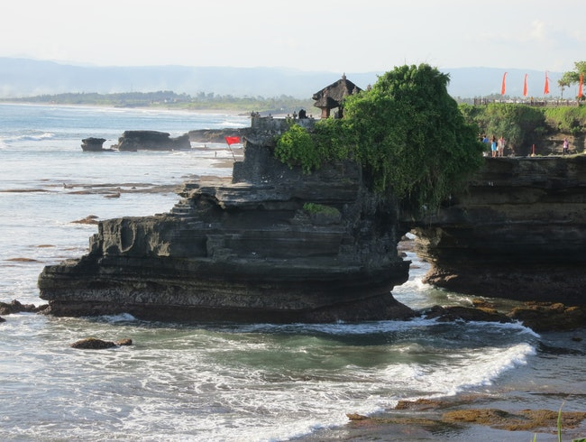 Watching the Sun Sink at Tanah Lot Temple