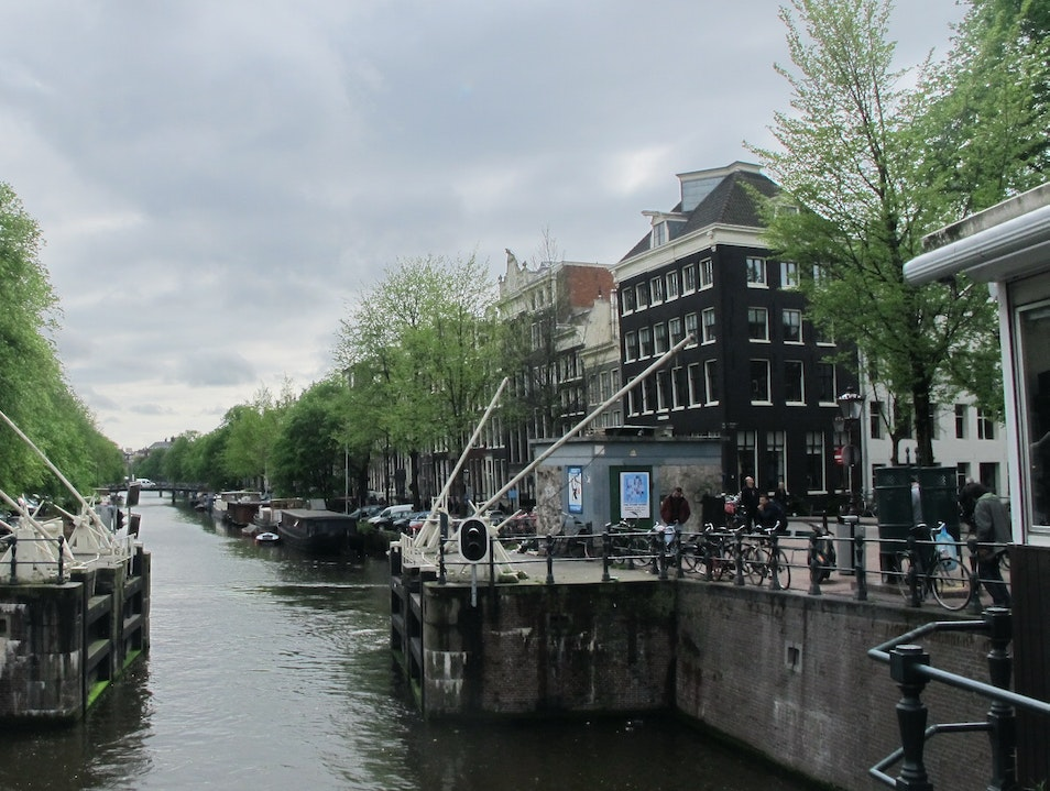 Trekking the canals Amsterdam  The Netherlands