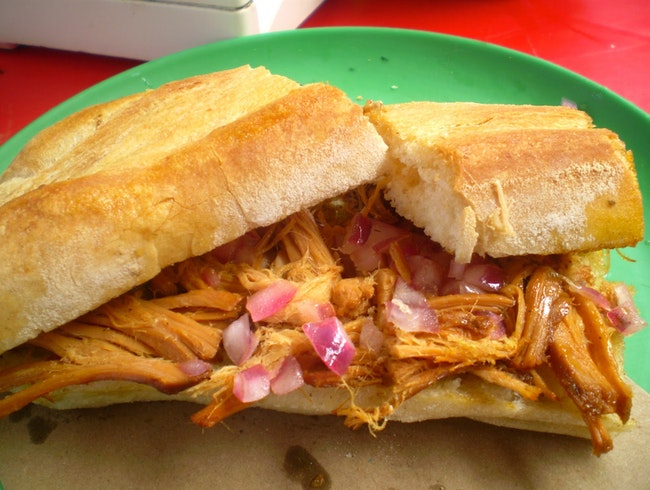 Cochinita pibil on the streets of Merida