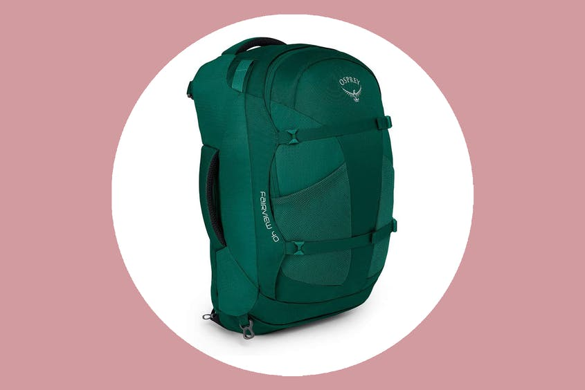 This 38-liter bag is ideal for a weekend getaway.