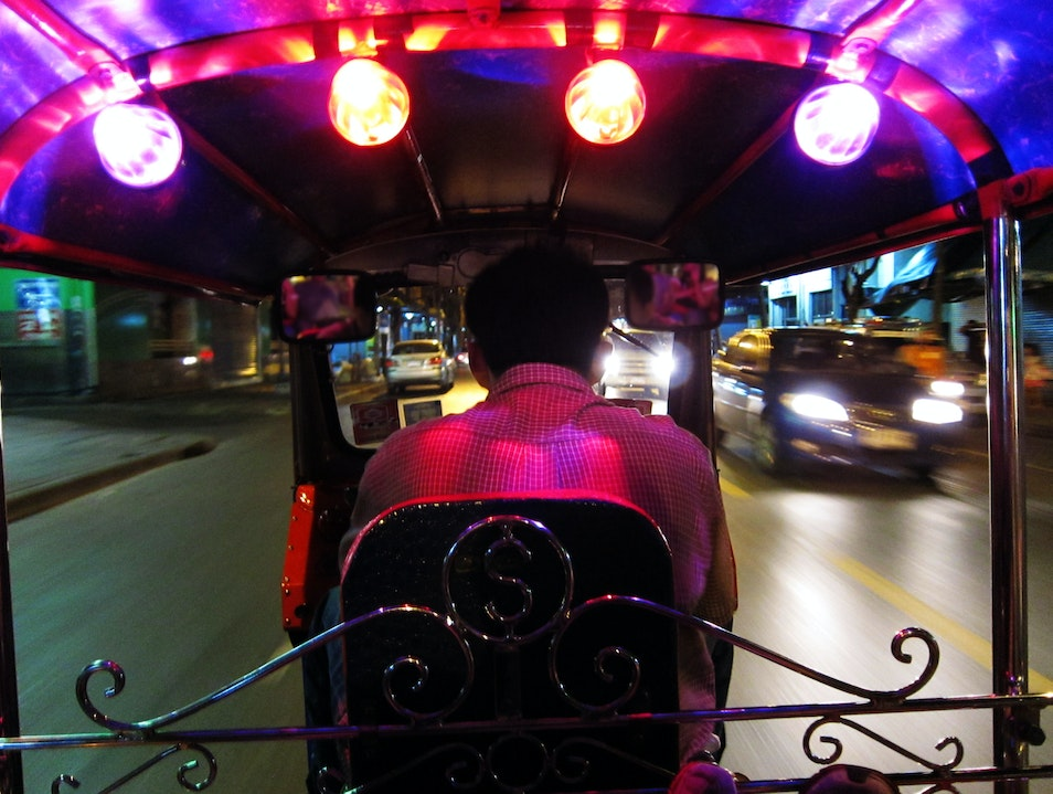 Midnight Tuk-Tuk Ride Bangkok  Thailand