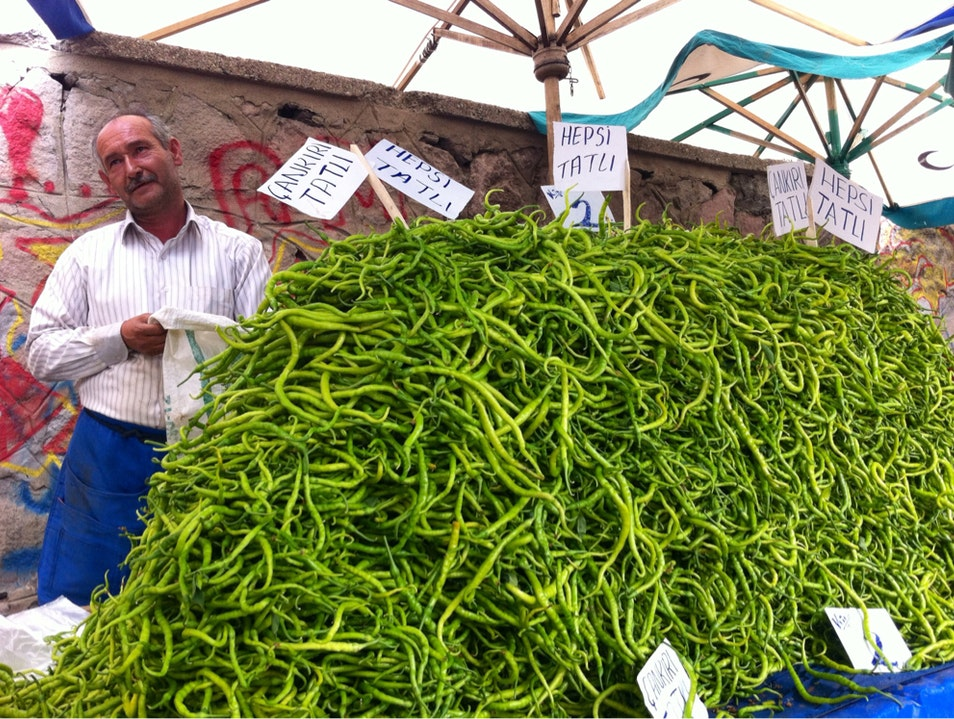 Turkish Farmers Market Ankara  Turkey