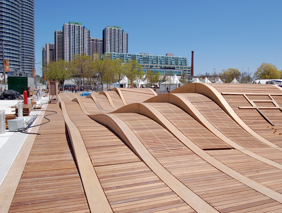 The Simcoe WaveDeck at Toronto's Harbor  Toronto  Canada