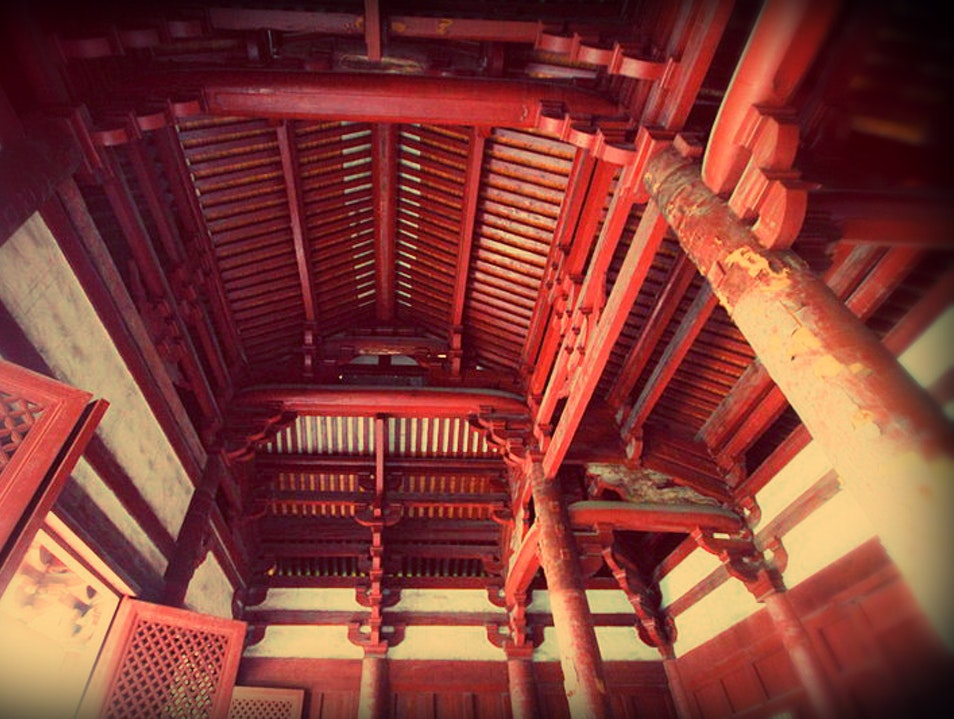 Oldest Wooden Building in South China Fuzhou  China