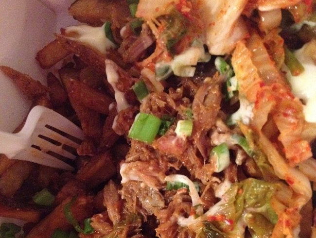 Kimchi Fries. Say WHAT?!
