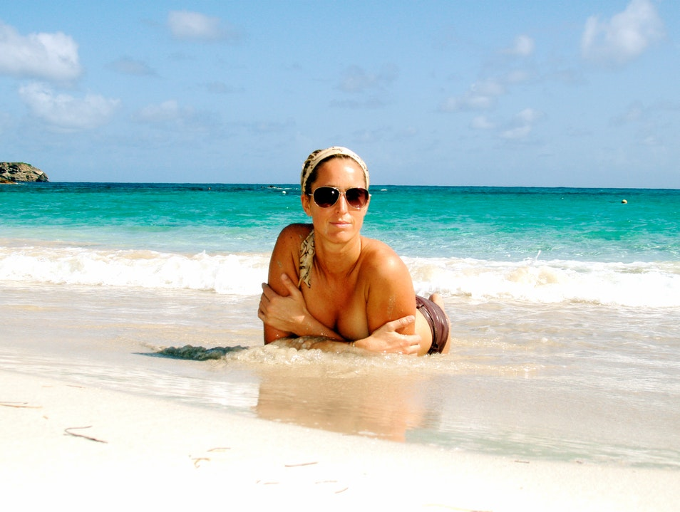 Sunbathing in the Warm and Shallow Waters of St Barths
