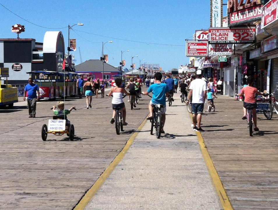 Walk or Ride the Wildwood Boardwalk!  Wildwood New Jersey United States