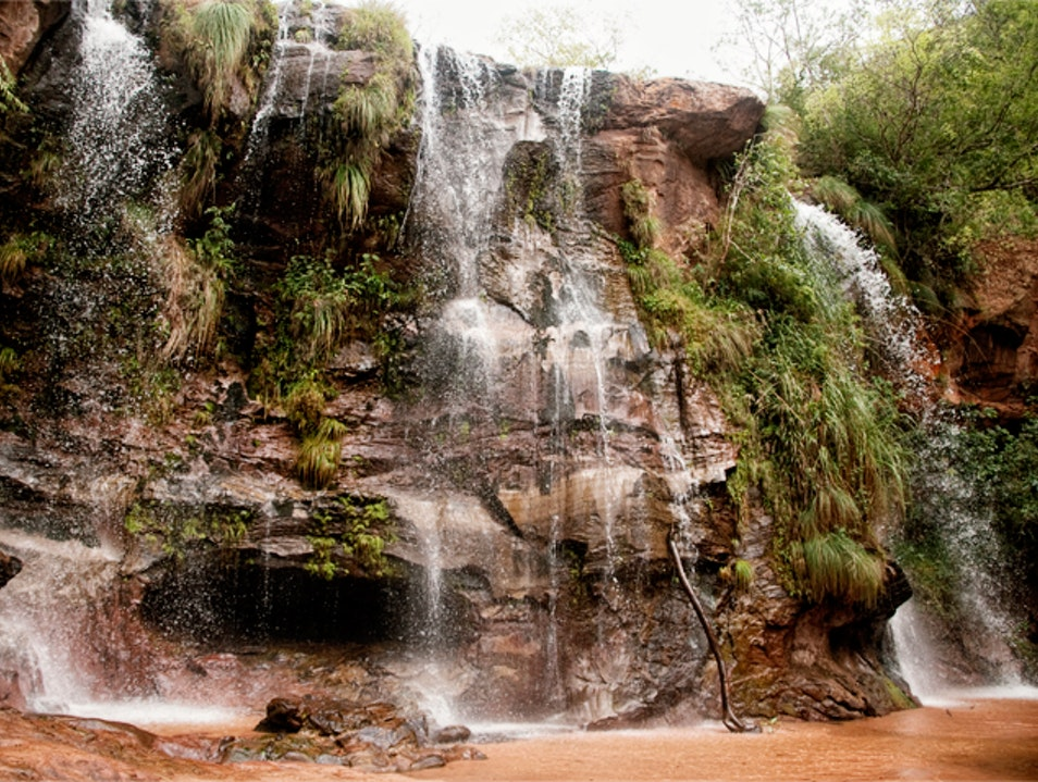Rest Stop at Cuevas Waterfalls Cuevas  Bolivia