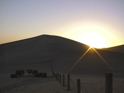 Mingsha Mountain and Crescent Moon Spring Jiuquan  China