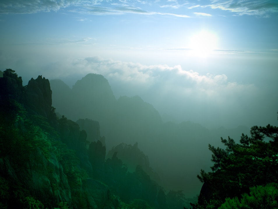 One of the Greatest Mountain Ranges of China Huangshan  China