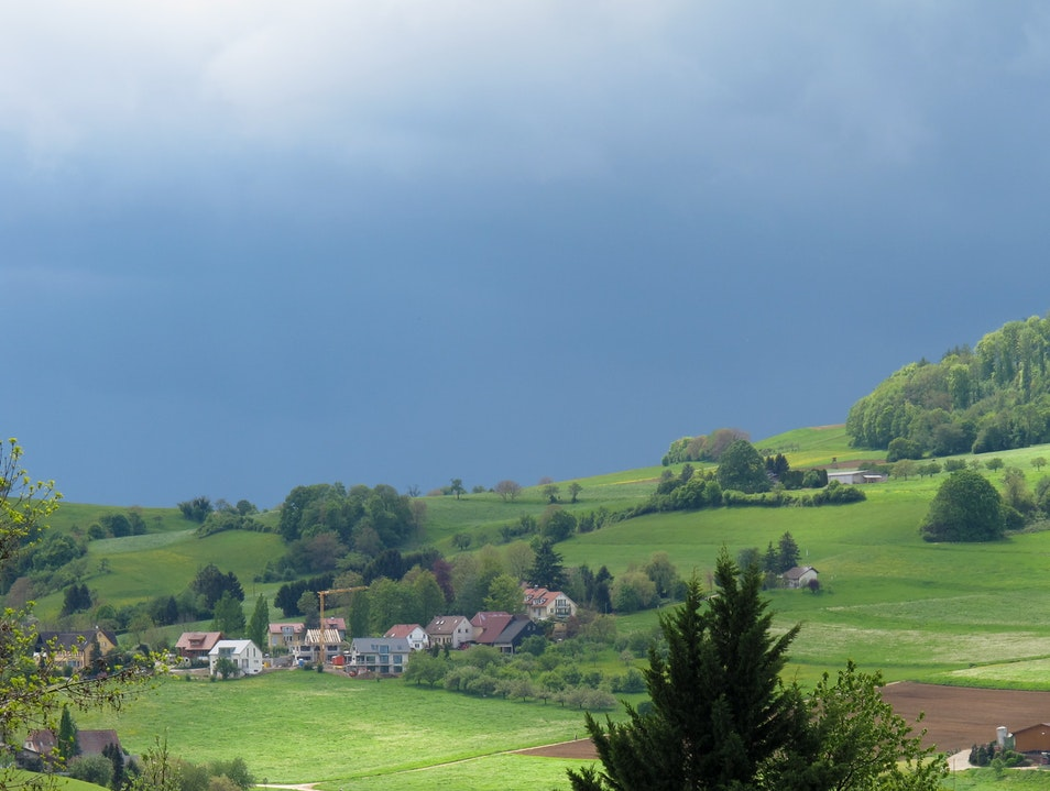 Black Forest Rain Showers Freiburg  Germany