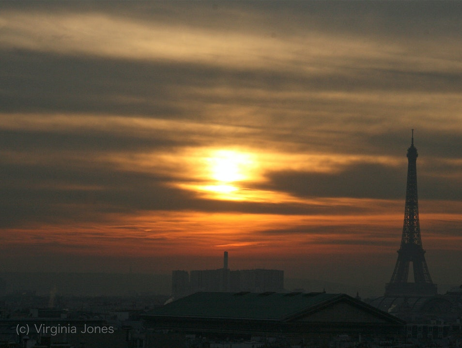 Sunset from a Department Store Rooftop Paris  France