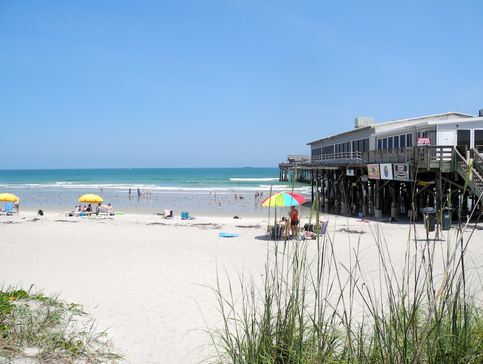 Long, Wide Sandy Beaches and a Pier Cocoa Beach Florida United States