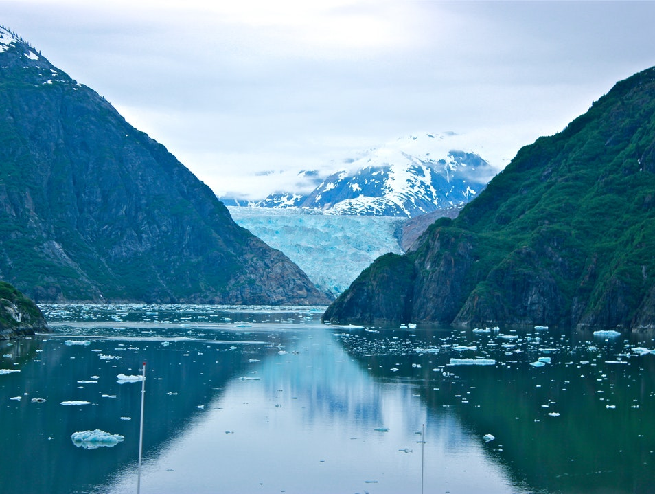 Time moves slowly in this hourglass of ice. Juneau Alaska United States