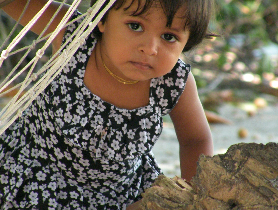 Shy girl on Mahibadhoo Dhangethi  Maldives