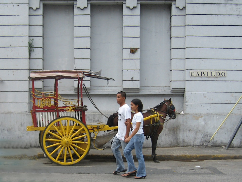 Riding the Kalesa Manila  Philippines