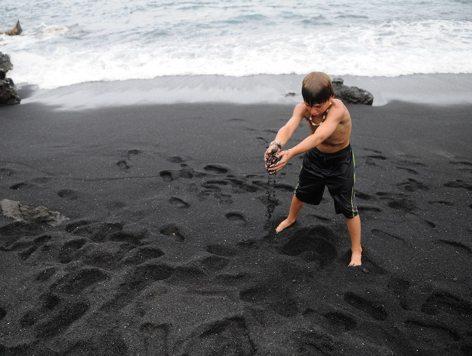 Black Sand Beach! Hāna Hawaii United States